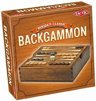 Tactic - 14026 - Jeu Classique - Jeux De Voyage En Bois : Backgammon