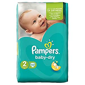 Pampers Baby Dry Nappies Size 2 Mini 3-6 kg Pack of 2
