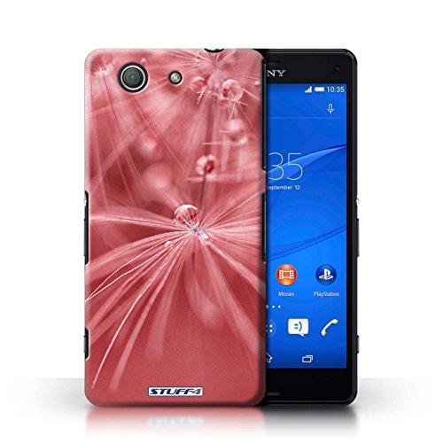 Kobalt® Imprimé Etui / Coque pour Sony Xperia Z3 Compact / Fleur Jaune conception / Série Gouttes de Fées Fleur Rouge