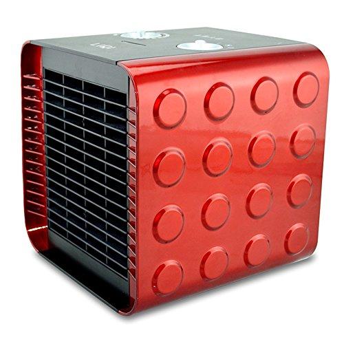 ZHIRONG Céramique carrée de chauffage électrique de PTC chauffant 750W \ 1500W \ air froid 18.8 * 18.5CM ( Couleur : Rouge )