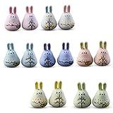 SODIAL Squisito campanelli carillon in ceramica fatti a mano carino coniglio vento campana ciondolo campana regalo di Pasqua giardino decorazione del giardino