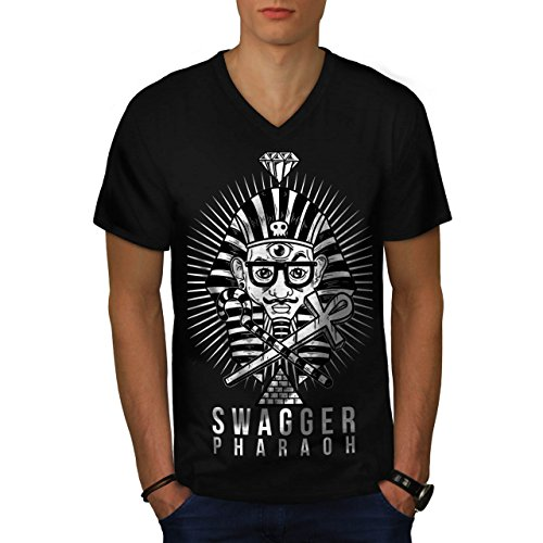 Stolzieren Pharao Mode Herren M V-Ausschnitt T-shirt   Wellcoda (Pharao Kostüm Männlich)