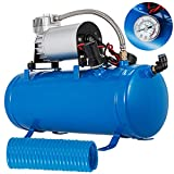 Moracle Compresor de Aire 12V 6L Compresor de Aire para Automóvil Mini Compresor de Aire Bomba...
