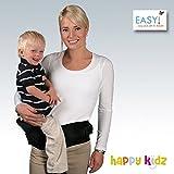 EASY KINDERIDEEN, ORIGINAL EASY RIDER Babytrage, GERMAN BRAND since 1995, 100 % CANVAS-COTTON, Universalgröße S bis XL