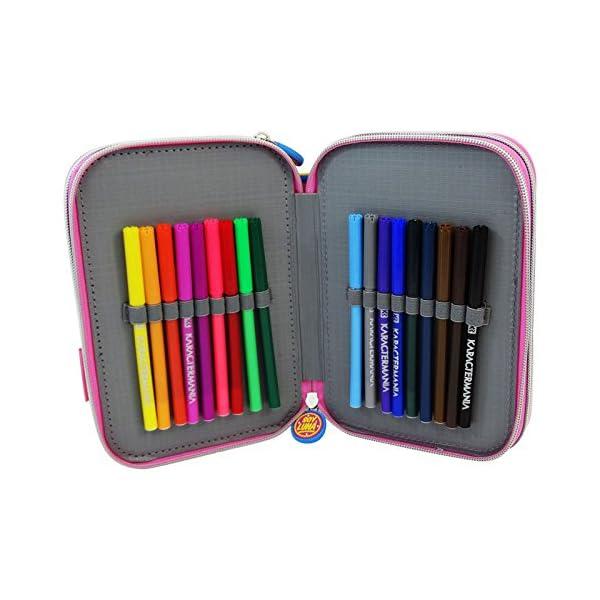 Disney Soy Luna Enjoy Love Estuche Escolar Làpices de colores Plumier triple