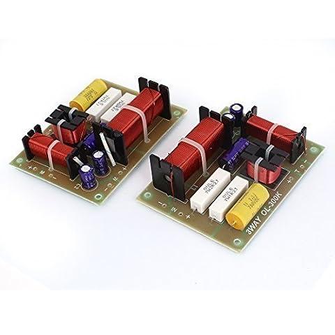 sourcingmap® 2 x 180 3-Wege-Frequenzweiche-Filter Frequenz-TRENNWAND