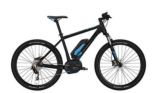 CONWAY EMR 327 E-Bike E Bike Pedelec Elektrofahrrad 27,5″ Herren 44cm S 500Wh Akku Mattschwarz Blau Modell 2017