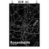 Mr. & Mrs. Panda Poster DIN A1 Stadt Rosenheim Stadt Black