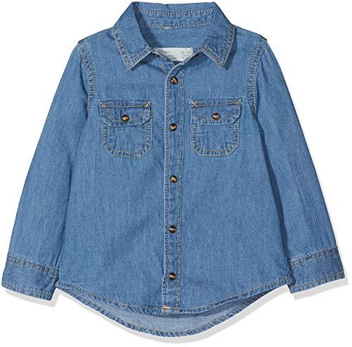 ZIPPY Shirts Camisa, Bebé-Niños, Azul (Medium Blue Denim 000), 74 (Tamaño del...