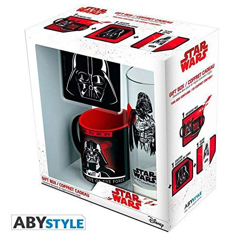 Set regalo Darth Vader. Star Wars. Taza, vaso y posavasos