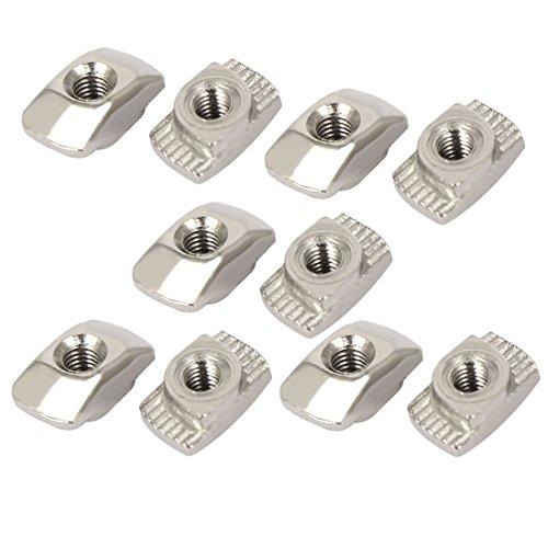Preisvergleich Produktbild Sourcingmap® M3 Gewinde Hammer Head T Slot Drop in t-nuts 10 Stück für 20-Serie Aluminium Profil