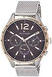 Tommy Hilfiger Unisex Multi Zifferblatt Quarz Uhr mit Edelstahl Armband 1791466