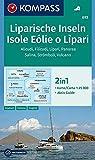 KOMPASS Wanderkarte Liparische Inseln, Isole Eólie o Lìpari, Alicudi, Filicudi, Lìpari, Panarea, Salina, Strómboli, Vulcano: 2in1 Wanderkarte 1:25000 ... 1:25 000 (KOMPASS-Wanderkarten, Band 693) -
