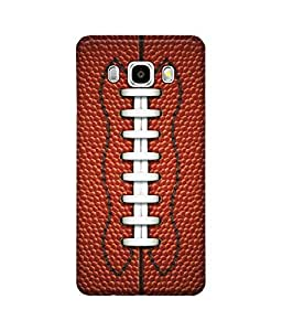 "NH10 DESIGNS 3D PRINTING DESIGNER HARD SHELL POLYCARBONATE ""LEATHER RUGBY BALL"" PRINTED SHOCK PROOF WATER RESISTANT SLIM BACK COVER MATT FINISH FOR SAMSUNG GALAXY J5 2016"