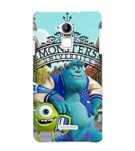 printtech Disneyy Monsters Back Case Cover for Coolpad Note 3