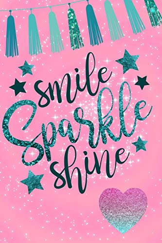 Glitter Teal Expression Quote Journal Diary Planner for Keeping a Personal Reflection, Sketching and Writing Ideas for Women, Girls and Teens ()