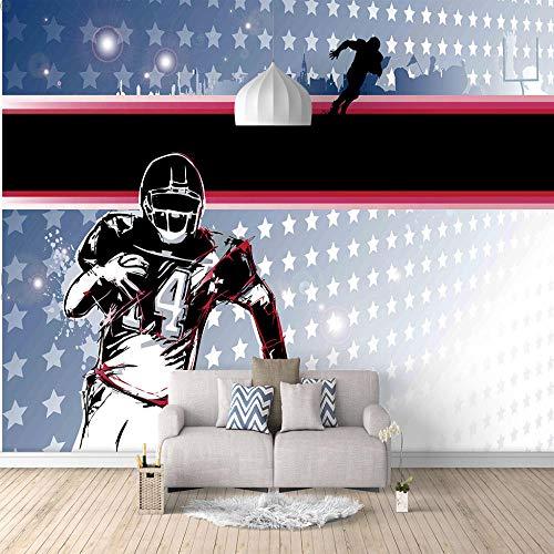 Seidentuch Wandbild Fußball 3D Fototapete Hd-Kunst Drucken Fresco Foto Fernseher Hintergrund Seide Wandmalerei, Tapeten Für Wohnzimmer Schlafzimmer Home Decor 400x280cm -
