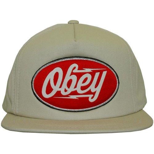 Obey-Gorra con visera plana para hombre, diseño de Gasoline-Khaki Light