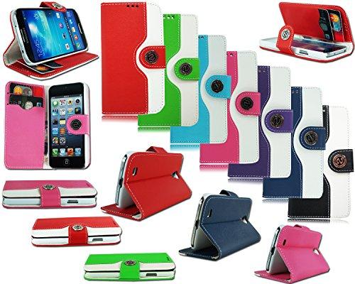 Schutzhülle Geldbörse (Neues Design Leder Flip Cover für verschiedene Handy Modelle RED SAMSUNG GALAXY S5 MINI