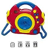 Kinder Spiel Zimmer Karaoke Anlage Sing a long CD Player + 2 Mikrofone AEG CDK 4229 bunt - 3