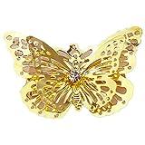 Cosanter 4 Stück Metall Schmetterling-Haarklammern Schmetterling Haarclip Haarklammer für Braut Haar Zubehör Golden