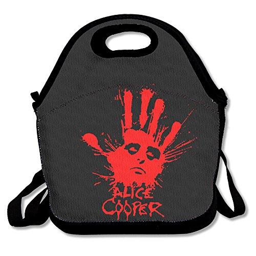 Funny Design-Tasche Alice Cooper Splatter Hand Rückseite Lunch Tasche.