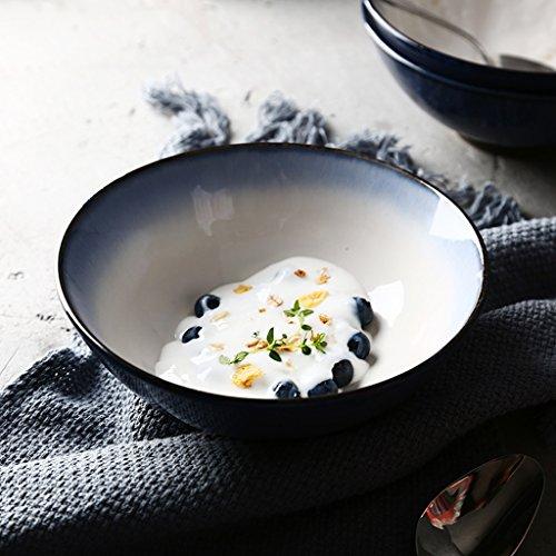 HR Home Keramik-Schüssel für Obst, Salat, Pasta, Müsli, Snacks, Ramen, Suppen, Geschirr Scorpion Bowl