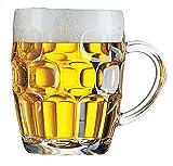 Dajar Bierkrug Britannia 570 ml, Glas, Transparent, 9,8 x 9,8 x 12,4 cm, 1 Einheiten