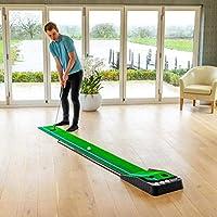 FORB Alfombra de Putting con Doble Césped para Entrenamientos de Golf - Alfombra con Devolución Automática de Bolas (3m) | Mejora tu Putting En Casa