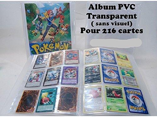 Album souple pour 216 cartes pokémon,yu gi oh,magic sans visuel