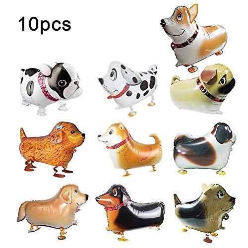 WXGY Globo de Fiesta con Forma de Animal en Forma de Globo con Forma de Perro 3D (Paquete de 10)