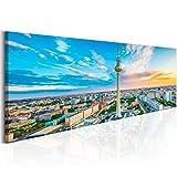 murando Bilder Berlin 135x45 cm - Vlies Leinwandbild - 1 Teilig - Kunstdruck - Modern - Wandbilder XXL - Wanddekoration - Design - Wand Bild - Stadt Berlin Aussichtspunkte d-B-0161-b-a