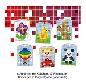 Pracht Creatives Hobby P90006-63501 - Juego de Manualidades para 6 medallones, Llavero, para niños, niños y niñas, Ideal como pequeño Regalo, para cumpleaños Infantiles