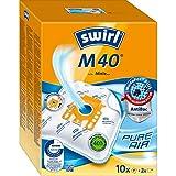 Swirl M 40 MicroPor Plus Staubsaugerbeutel für Miele Staubsauger | Anti-Allergen-Filter | Dauerhaft hohe Saugleistung | 10er Pack inkl. 2 Filter