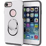 Carcasa iPhone 6 y 6s / Funda iPhone 6 / 6s shockproof iphone case con soporte de anillo girando 360 grados [ Soporte Coche Magnético ] [ iphone case for car holder Epic Blue ] - White