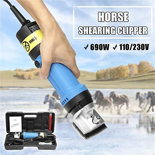 GMtes Professionelle elektrische Pferdescheren für Pferdehaarschneider, 690W & 6-Fach verstellbar, für Rasierpelz in Esel-Alpakas, Lamas und Anderen landwirtschaftlichen Nutztieren,EU220V