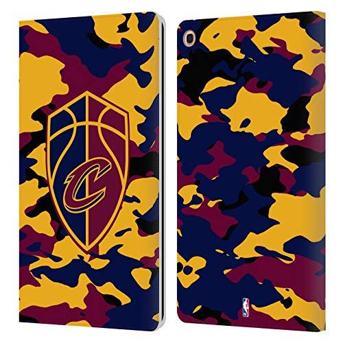 Head Case Designs Offizielle NBA Camouflage 2018/19 Cleveland Cavaliers Leder Brieftaschen Huelle kompatibel mit Samsung Galaxy Tab A 10.1 2019 -