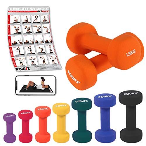 Neopren Hanteln Gewichte für Gymnastik Kurzhanteln 0,5 kg - 5 kg oder Set komplett (2 x 1,5 kg)