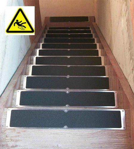 Floordirekt Antirutsch-Aluminiumplatte - 63,5cm - schwarz