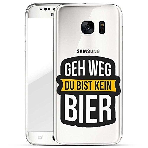 TPU Handyhülle für dein Samsung Galaxy S7 Edge von finoo Made In Germany Hülle mit Motiv und Optimalen Schutz Silikon Tasche Case Cover Schutzhülle für Dein Samsung Galaxy S7 Edge-Geh Weg du bist kein Bier -