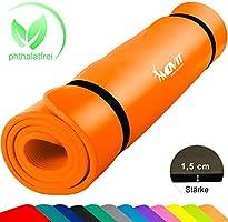Movit XXL Pilates Gymnastikmatte, Yogamatte, phthalatfrei, SGS geprüft, 190 x 100 x 1,5cm oder 190 x 60 x 1,5cm, Yoga...