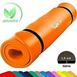 MOVIT XXL Pilates Gymnastikmatte, Yogamatte, phthalatfrei, SGS Geprüft, 190 x 60 x 1,5cm, Orange