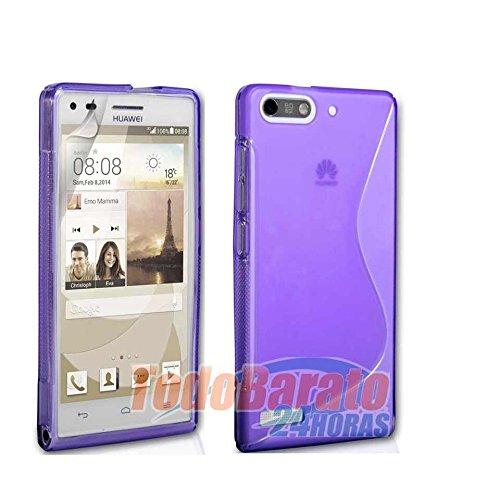 Todobarato24h Funda Gel SLine S Line Morada Huawei Ascend G6 4G Orange Gova