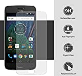 #9: Annant Full Screen 0.3mm Pro+ Edge To Edge Coverage 2.5D Curved 3D Tempered Glass With Packaging Kit For Motorola Moto G5s Plus - (Transparent)