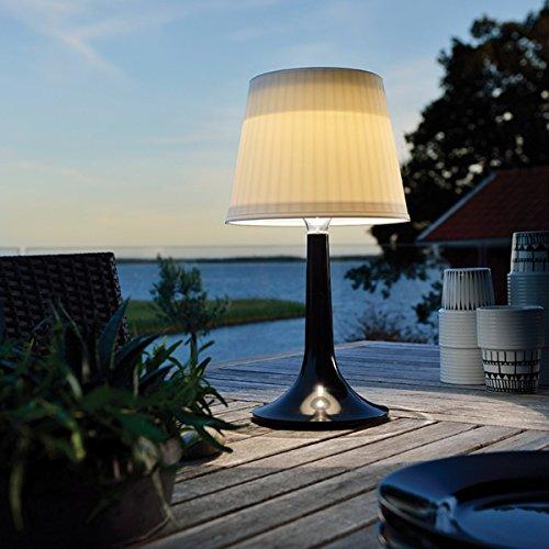 LED Solar-Schreibtischlampe, weiß, Nachtlicht, Innen- und Außen-Tischbeleuchtung. , plastik, Schwarz  0.50W 1.20V
