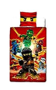 lego ninjago kinder bettw sche set wendebettw sche baumwolle 140 x 200 und 70 x 90. Black Bedroom Furniture Sets. Home Design Ideas
