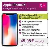 Apple iPhone X mit 64 GB internem Speicher mit Telekom Magenta M inkl. Telefon-und SMS Flat in Alle dt. Netze, 4GB Datenvolumen mit bis zu 300 Mbit/s, 24 Monate Laufzeit mtl.
