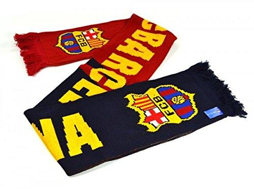 FC Barcelona Football Club Azul Marron Nero bufanda de punto Escudo oficial regalo