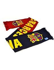 Echarpe FC Barcelone Football Club Bleu Maroon Nero tricote Badge officiel cadeau
