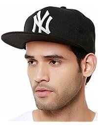 BLUE DIAMOND NY White Hip Hop Cap Boy's Cotton Snapback Baseball (Black & White) Hip hop Cap